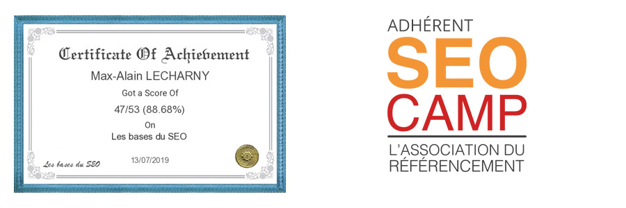 certification SEO Camp lecharny max-alain