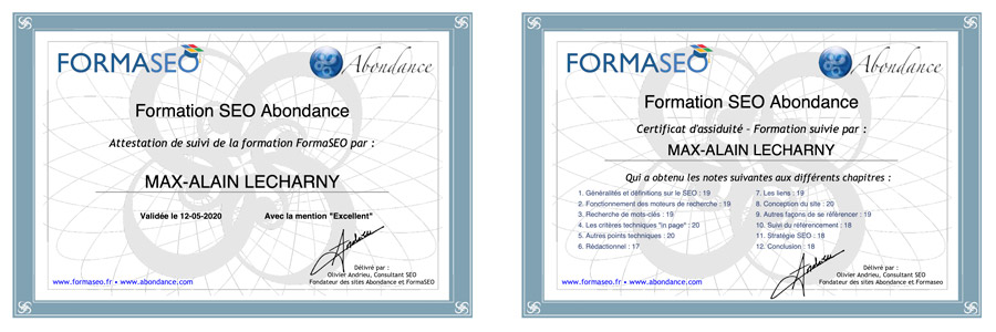 certification seo formaseo
