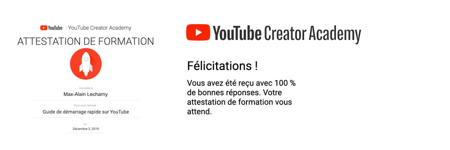 certification youtube max-alain