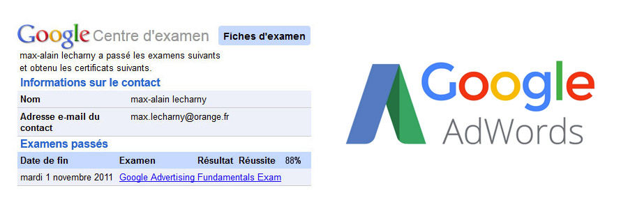 certification google adwords max-alain lecharny